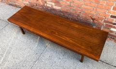 Milo Baughman Milo Baughman Low Walnut Long Bench or Coffee Table - 2079249