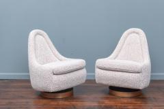 Milo Baughman Milo Baughman Petite Swivel and Tilt Lounge Chairs - 1788816