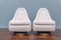 Milo Baughman Milo Baughman Petite Swivel and Tilt Lounge Chairs - 1788821