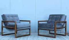 Milo Baughman Milo Baughman Scoop Oak Lounge Chairs - 1232005