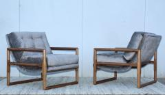 Milo Baughman Milo Baughman Scoop Oak Lounge Chairs - 1232006