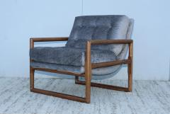 Milo Baughman Milo Baughman Scoop Oak Lounge Chairs - 1232016