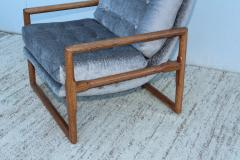 Milo Baughman Milo Baughman Scoop Oak Lounge Chairs - 1232018
