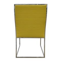 Milo Baughman Milo Baughman Set of 6 Dining Chairs in Polished Chrome 1970s - 1674684