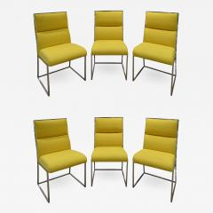 Milo Baughman Milo Baughman Set of 6 Dining Chairs in Polished Chrome 1970s - 1678944