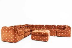 Milo Baughman Milo Baughman Seven Piece Cubo Sectional in Sienna - 1370363