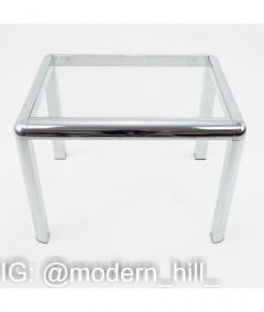 Milo Baughman Milo Baughman Style Mid Century Chrome and Glass Table - 1833773