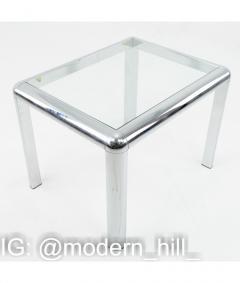 Milo Baughman Milo Baughman Style Mid Century Chrome and Glass Table - 1833775