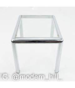 Milo Baughman Milo Baughman Style Mid Century Chrome and Glass Table - 1833778