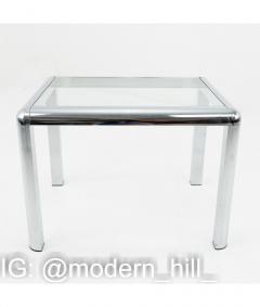 Milo Baughman Milo Baughman Style Mid Century Chrome and Glass Table - 1833790