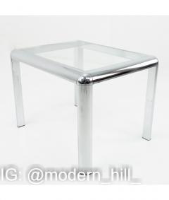 Milo Baughman Milo Baughman Style Mid Century Chrome and Glass Table - 1833791
