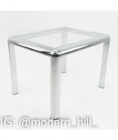 Milo Baughman Milo Baughman Style Mid Century Chrome and Glass Table - 1833792