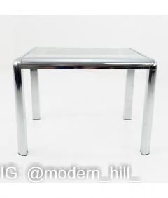 Milo Baughman Milo Baughman Style Mid Century Chrome and Glass Table - 1833794