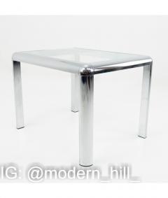 Milo Baughman Milo Baughman Style Mid Century Chrome and Glass Table - 1833796