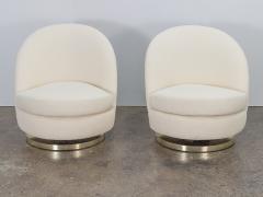 Milo Baughman Milo Baughman Swivel Lounge Chairs - 1502865