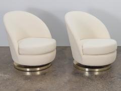 Milo Baughman Milo Baughman Swivel Lounge Chairs - 1502873