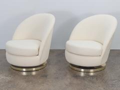 Milo Baughman Milo Baughman Swivel Lounge Chairs - 1502874