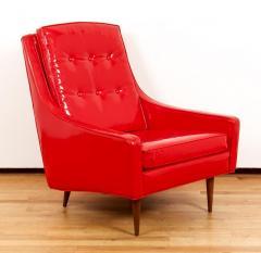 Milo Baughman Milo Baughman for Thayer Coggin Red Vinyl Lounge Chair - 1951556
