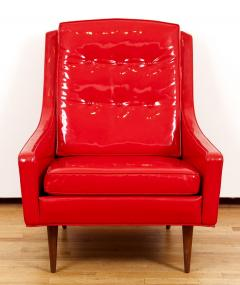 Milo Baughman Milo Baughman for Thayer Coggin Red Vinyl Lounge Chair - 1951557