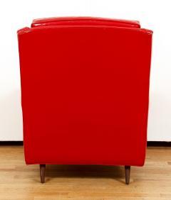 Milo Baughman Milo Baughman for Thayer Coggin Red Vinyl Lounge Chair - 1951559