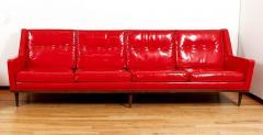 Milo Baughman Milo Baughman for Thayer Coggin Red Vinyl Sofa - 1951540
