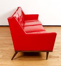 Milo Baughman Milo Baughman for Thayer Coggin Red Vinyl Sofa - 1951541