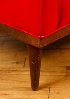 Milo Baughman Milo Baughman for Thayer Coggin Red Vinyl Sofa - 1951543