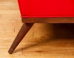Milo Baughman Milo Baughman for Thayer Coggin Red Vinyl Sofa - 1951545