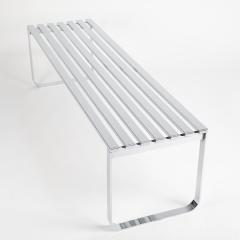Milo Baughman Milo Baughman slatted chrome bench for DIA circa 1970s - 1136153