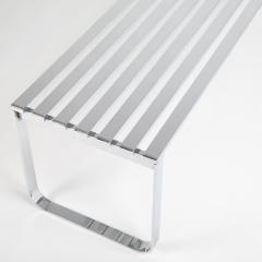 Milo Baughman Milo Baughman slatted chrome bench for DIA circa 1970s - 1136158