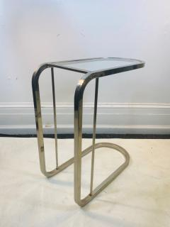 Milo Baughman PAIR OF MILO BAUGHMAN GLASS AND CHROME SIDE TABLES - 1557286