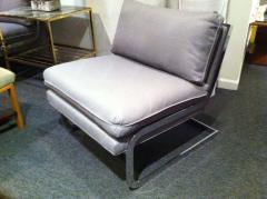 Milo Baughman Pair Mid Century Milo Baughman style S shaped Cantilever Club Chairs - 1868583