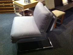 Milo Baughman Pair Mid Century Milo Baughman style S shaped Cantilever Club Chairs - 1868584
