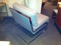Milo Baughman Pair Mid Century Milo Baughman style S shaped Cantilever Club Chairs - 1868585