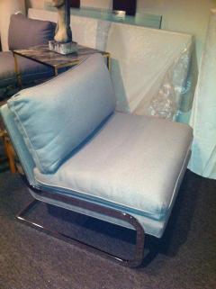 Milo Baughman Pair Mid Century Milo Baughman style S shaped Cantilever Club Chairs - 1868586