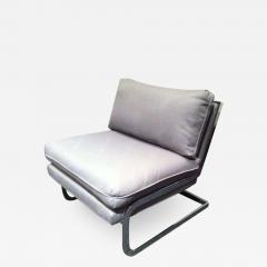Milo Baughman Pair Mid Century Milo Baughman style S shaped Cantilever Club Chairs - 1875463