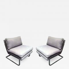 Milo Baughman Pair Mid Century Milo Baughman style S shaped Cantilever Club Chairs - 1875464