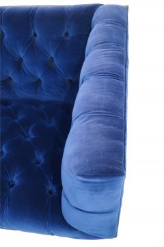 Milo Baughman Pair Mid Century Modern Milo Baughman Style Brass Cantilever Lounge Club Chairs - 1815975
