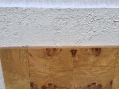 Milo Baughman Pair Milo Baughman Style Burl Wood Mirrors - 1138757