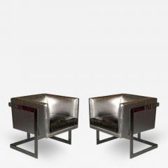 Milo Baughman Pair of Cube Lounge Chairs by Milo Baughman for Thayer Coggin - 131235
