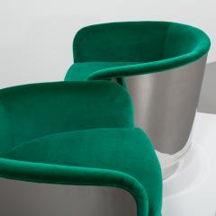 Milo Baughman Pair of Milo Baughman Steel Wrapped Swivel Chairs 1970s - 623199