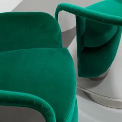 Milo Baughman Pair of Milo Baughman Steel Wrapped Swivel Chairs 1970s - 623203
