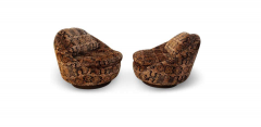 Milo Baughman Pair of Milo Baughman for Thayer Coggin Swivel Lounge Chairs - 1494094