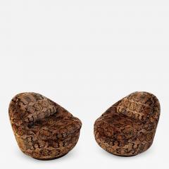Milo Baughman Pair of Milo Baughman for Thayer Coggin Swivel Lounge Chairs - 1496128