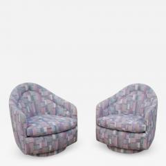 Milo Baughman Pair of Rocking Swivel Lounge Chairs by Milo Baughman - 1470671