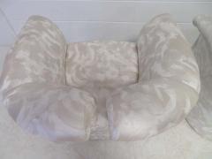 Milo Baughman Pair of Signed Milo Baughman Barrel Back Lounge Chairs Mid Century Modern - 1613932