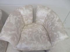 Milo Baughman Pair of Signed Milo Baughman Barrel Back Lounge Chairs Mid Century Modern - 1613934