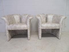 Milo Baughman Pair of Signed Milo Baughman Barrel Back Lounge Chairs Mid Century Modern - 1613936