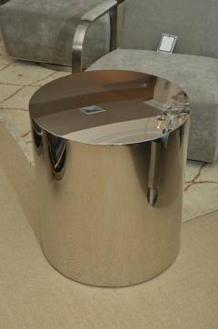 Milo Baughman Pair of Stainless Steel Drum Tables by Milo Baughman - 1331559