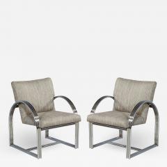 Milo Baughman Pair of Vintage Mid Century Modern Accent Chairs - 1572595